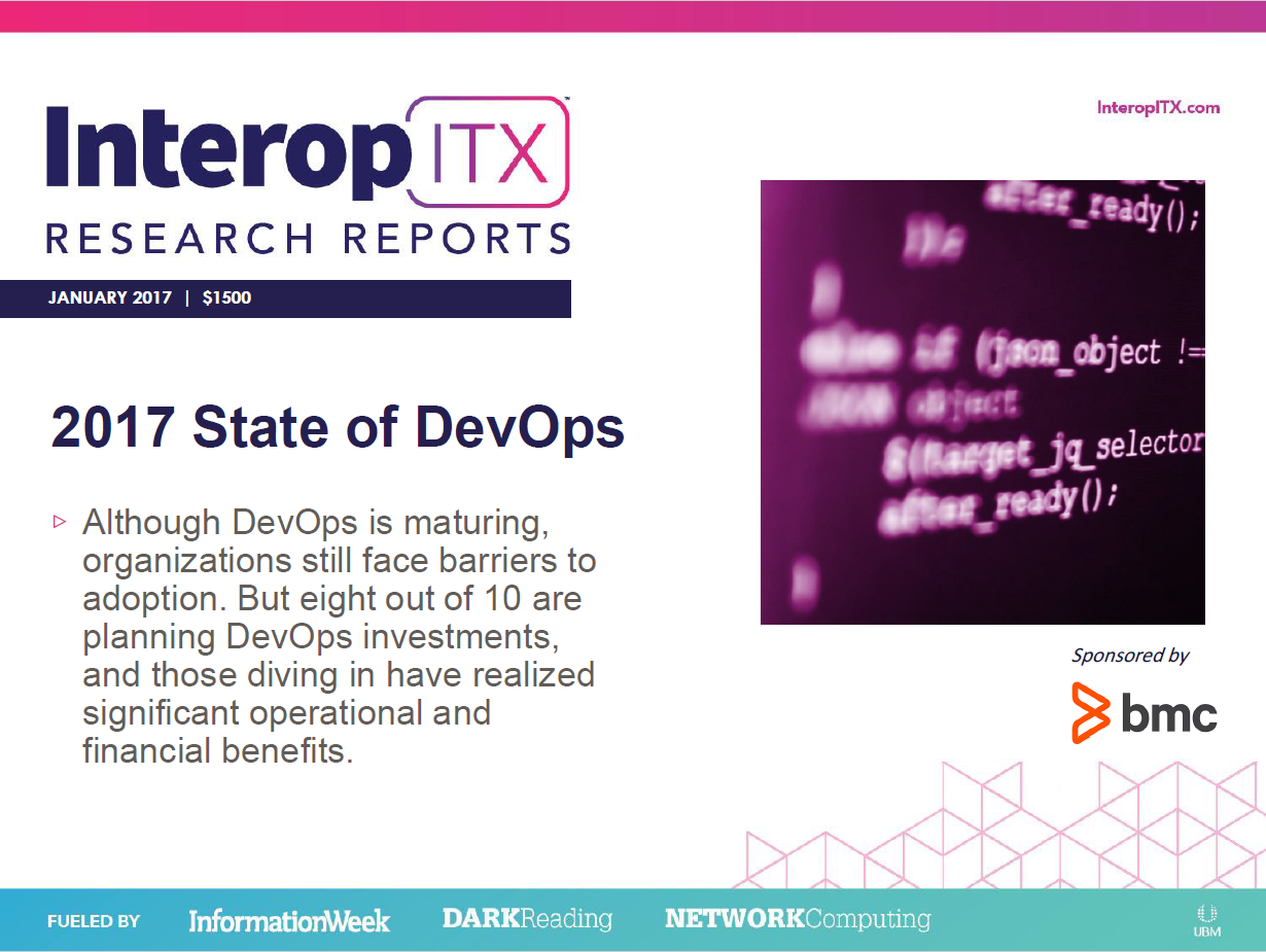 [Interop ITX 2017] State Of DevOps Report